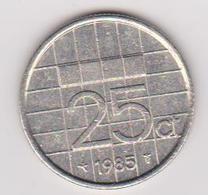 1985 Olanda - 25 Cts (circolate) Fronte E Retro - [ 3] 1815-… : Regno Dei Paesi Bassi