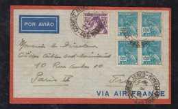 Brazil Brasil 1936 AIR FRANCE Airmail Cover PERNAMBUCO To Paris - Lettres & Documents