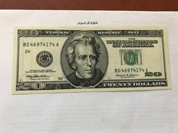 USA United States $20.00 Banknote 1999  #16 - National Currency