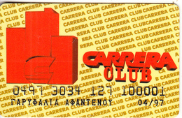 GREECE - Carrera Club, Magnetic Member Card, Exp.date 04/97, Used - Autres Collections