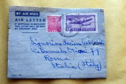 INDIA 1953 2 AEROGRAMMI  VIAGGIATI - Storia Postale