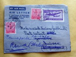 INDIA 1953  AEROGRAMMA  VIAGGIATO CON SEGNATASSE - Storia Postale