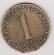 1961 Austria - 1 Shilling. (circolate) Fronte E Retro - Austria