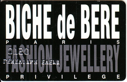 GREECE - Biche De Bere, Privilege Member Card, Used - Unclassified