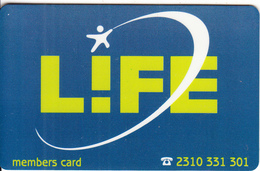 GREECE - Life, Magnetic Member Card, Unused - Autres Collections