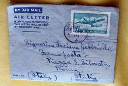 INDIA 1953  5 AEROGRAMMI  VIAGGIATI - Storia Postale