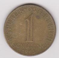 1965 Austria - 1 Shilling. (circolate) Fronte E Retro - Austria