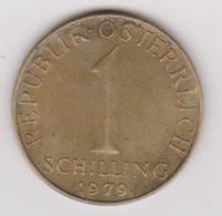 1979 Austria - 1 Shilling. (circolate) Fronte E Retro - Austria