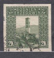 Austria Occupation Of Bosnia 1906 Pictorials Mi#43 U Imperforated, Used - Usados