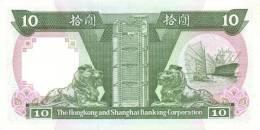 HONG KONG P. 191c 10 D 1992 UNC - Hong Kong