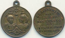 Medaille Niederlande 1874, Wilhelm III. Erinnerung An 25 Jahre Regierung - Netherland