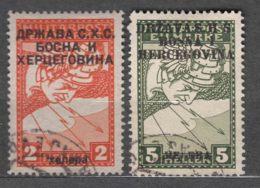 Yugoslavia, Kingdom SHS, Issues For Bosnia 1918 Mi#17 II A And 18 I, Used - Usados