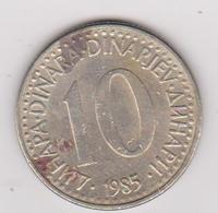 1985 Jugoslavia - 10 Dinara. (circolate) Fronte E Retro - Jugoslavia