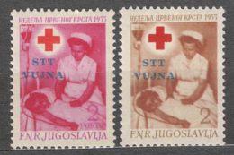 Italy Yugoslavia Trieste Zone B, Red Cross Porto 1953 Mi#5, Sassone#93-94 Mint Never Hinged - Mint/hinged