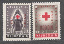 Italy Yugoslavia Trieste Zone B, Red Cross Porto 1952 Mi#4, Sassone#65-66 Mint Never Hinged - Mint/hinged