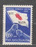Italy Yugoslavia Trieste Zone B, Red Cross Porto 1951 Mi#3, Sassone#39 Mint Hinged - Mint/hinged