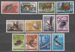 Italy Yugoslavia Trieste Zone B, Animals 1954 Mi#123-134, Sassone#101-112 Mint Never Hinged - Mint/hinged