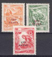 Italy Yugoslavia Trieste Zone B, 1954 Mi#110-112, Sassone#98-100 Mint Never Hinged - Mint/hinged