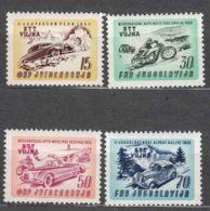 Italy Yugoslavia Trieste Zone B, Auto-Moto Racing 1953 Mi#98-101, Sassone#85-88 Mint Hinged/never Hinged - Mint/hinged