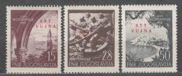 Italy Yugoslavia Trieste Zone B, 1952 Mi#76-78, Sassone#62-61 Mint Never Hinged - Mint/hinged
