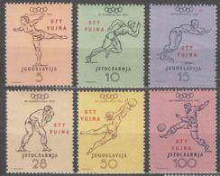 Italy Yugoslavia Trieste Zone B, Olympic Games 1952 Mi#70-75, Sassone#56-61 Mint Hinged - Mint/hinged