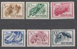 Italy Yugoslavia Trieste Zone B, Sport 1952 Mi#60-65, Sassone#46-51 Mint Hinged - Mint/hinged