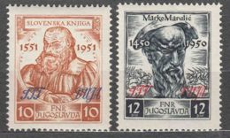 Italy Yugoslavia Trieste Zone B, 1951 Mi#55,56 Sassone#44,45 Mint Never Hinged - Mint/hinged