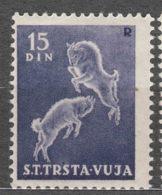 Italy Yugoslavia Trieste Zone B, Animals 1950 Mi#42, Sassone#29 Mint Hinged - Mint/hinged