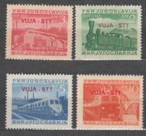 Italy Yugoslavia Trieste Zone B, Trains 1950 Mi#31-34, Sassone#19-22 Mint Never Hinged - Mint/hinged