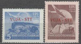 Italy Yugoslavia Trieste Zone B, UPU 1949 Mi#22-23, Sassone#17-18 Mint Hinged (17) Never Hinged (18) - Mint/hinged