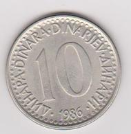 1986 Jugoslavia - 10 Dinara. (circolate) Fronte E Retro - Jugoslavia