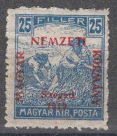 Hungary Szegedin Szeged 1919 Mi#12 Magyar Kir Posta, Mint Hinged - Szeged