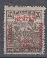 Hungary Szegedin Szeged 1919 Mi#11 Magyar Kir Posta, Mint Hinged - Szeged