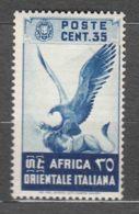 Italy Colonies East Africa 1938 Sassone#9 Mint Hinged - Africa Oriental Italiana