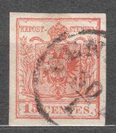 Austria Italy, Lombardy Venezia 1850 Mi#3 Y Used - 1850-1918 Imperio