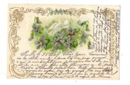 Colombe Sur Bouquet De Violettes - 5330 - Flores