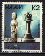 MALAWI - 1987 - MALAWI CHESS - QUEEN - FRANCOBOLLO CON PIEGA - USATO - Malawi (1964-...)