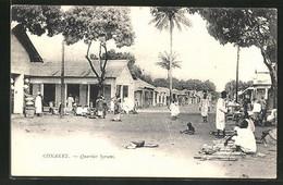 AK Conakry, Quartier Syriens - Postcards