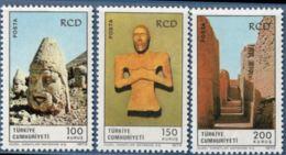 Turkey 1973 Archeologic Sites & Statue 3 Values MNH Mausoleum Antioch, Statue From Lut-steppel, Moengodaro - Archaeology