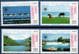 Turkey 1976 Environment 4 Values MNH Sweet Water Protection - Environment & Climate Protection