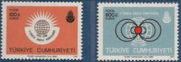 Turkey 1977 World Enrgy Conference 2 Values MNH Globus Emblem - Environment & Climate Protection