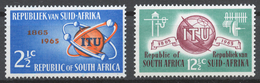 South Africa 1965 Mi# 344-45** ITU, CENTENARY - Afrique Du Sud (1961-...)