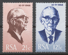 South Africa 1968 Mi# 361-62** PRESIDENT JACOBUS JOHANNES FOUCHÉ INAUGURATION - Afrique Du Sud (1961-...)