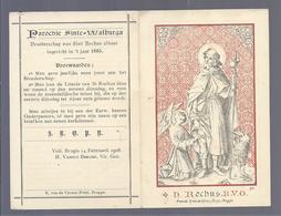 H. ROCHUS BVO LITANIE PATROON TEGEN DE PESTE EN ALLE ANDERE BESMETTELIJKE ZIEKTEN STEENDRUK VAN DE VYVERE PETYT BRUGGE - Images Religieuses