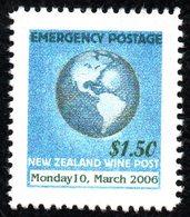 New Zealand Wine Post Emergency Dated Stamp. - New Zealand