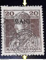 ERROR TRANSYLVANIA  ROMANIA  1919  Occupation  1919  Overprint  MISPLACED 10 Bani On 20 Filler - Transylvania