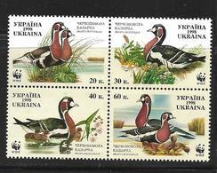 UKRAINE 1998 WWF-CANARDS  YVERT N°347/50  NEUF MNH** - Ongebruikt