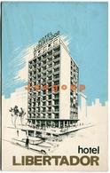 Folleto Publicidad Mapa Hotel Libertador Montevideo Uruguay - Advertising