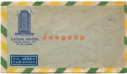 Sobre Envelope Via Aerea Par Avion Advertising  Luxor Hotel Rio De Janeiro Brasil - Advertising