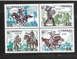 UKRAINE 2002 HISTOIRE DE L'UKRAINE  YVERT N°439/42  NEUF MNH** - Ukraine